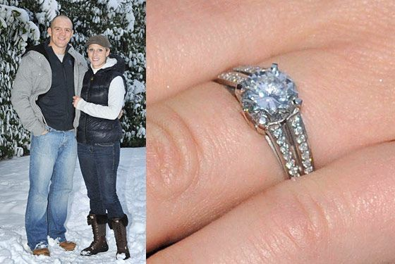 Zara Phillips' engagement ring
