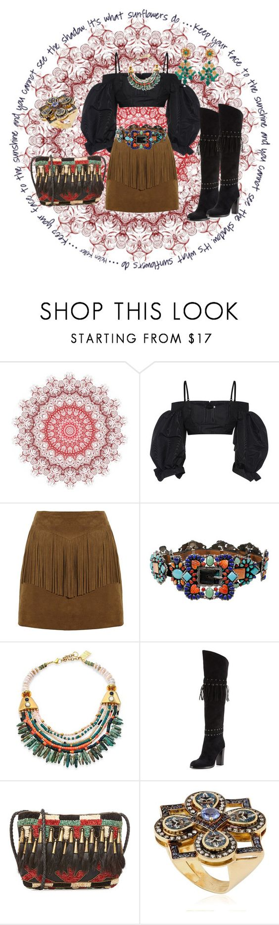 """Tribal Trivia"" by jocelyn-leonard ❤ liked on Polyvore featuring Alessandra Rich, Yves Saint Laurent, Lizzie Fortunato, Rebecca Minkoff, Antik Batik, Le Sibille and Mercantia"