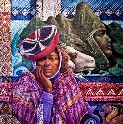 Pintura y Fotografía Artística : Espectaculares Pinturas Indigenistas, Cuadros al Óleo