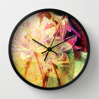 waterlily 2 Wall Clock by clemm - $30.00