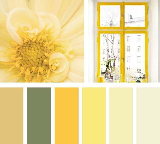 Amarillo buenos d as paletas de color pinterest feng - Gama de colores paredes ...