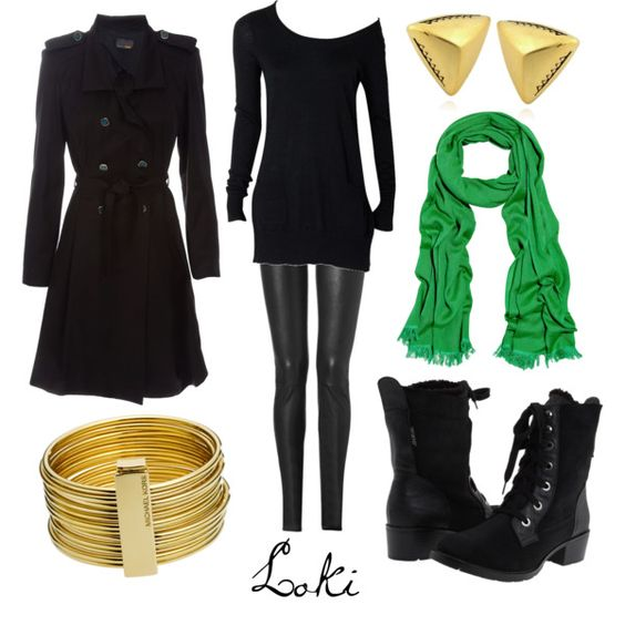 """""""Loki"""" by character-inspired-style on Polyvore. Reason number one why I suddenly need to own leather leggings..."""