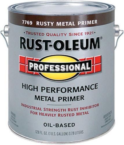 Highlights Size Gallon Color Rusty Red Oil Based Durable And Corrosion Resistant For Indoor And Metal Primer Rusty Metal Painting Galvanized Steel