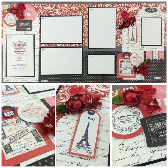 Carta Bella Amour Best site for scrapbook layouts ever!   www.scrapbookstation.com