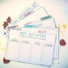Etiquettes, Fiches recettes, Semainiers ..... à imprimer