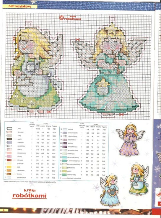 Angels, plastic canvas, charts, page 1/2
