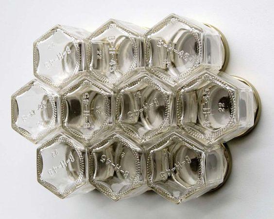 Étagère à épices magnétiques hexagone : 10 par GneissSpice sur Etsy