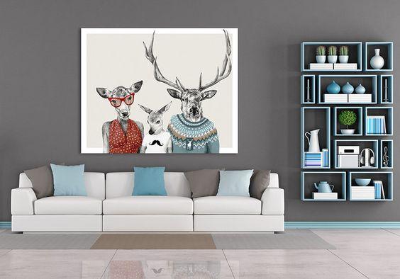 Leinwandbild  100x80 cm + FAMILY+ von LUdesign auf DaWanda.com