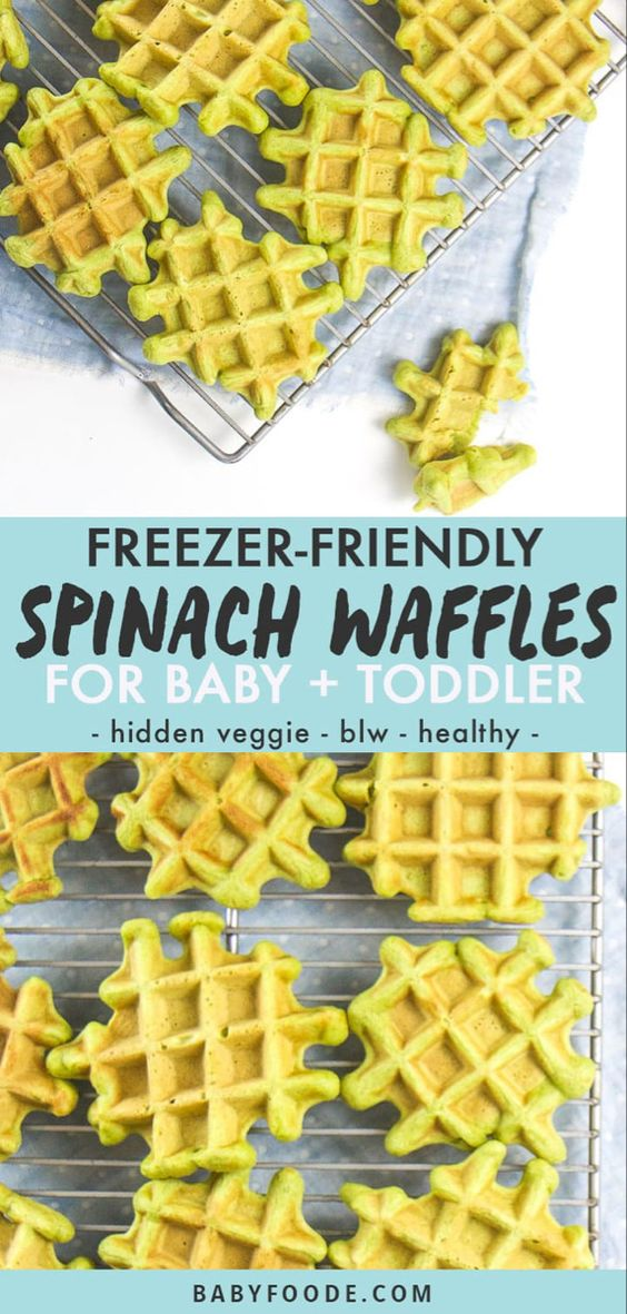Freezer-Friendly Spinach Waffles