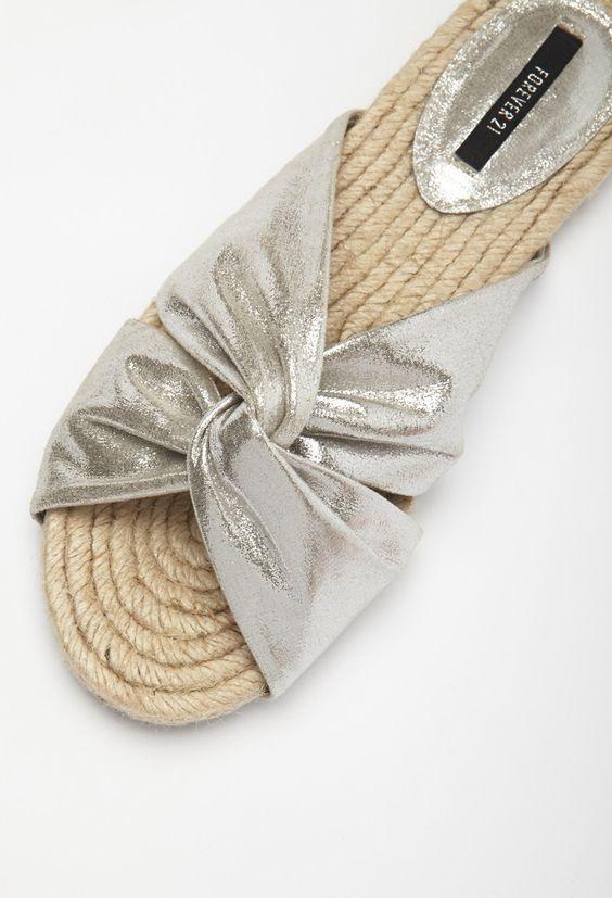 Espadrilles à Enfiler Métalliques - Chaussures - 2000096088 - Forever 21 EU Français