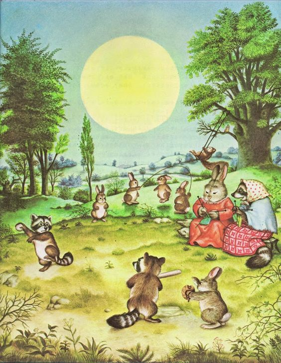 """""""Wait Till the Moon is Full"""" by Margaret Wise Brown, Illustrated by Garth Williams (1948)"""