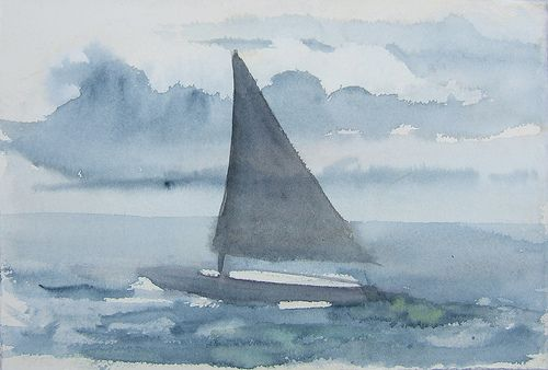 Boat from the imagination- Watercolor