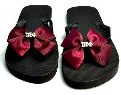 Pi Phi flip flops #piphi #pibetaphi