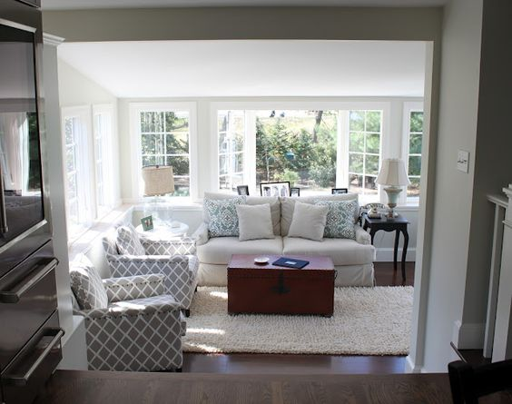 Family Room Beside Kitchen Steps Down Create A Somewhat