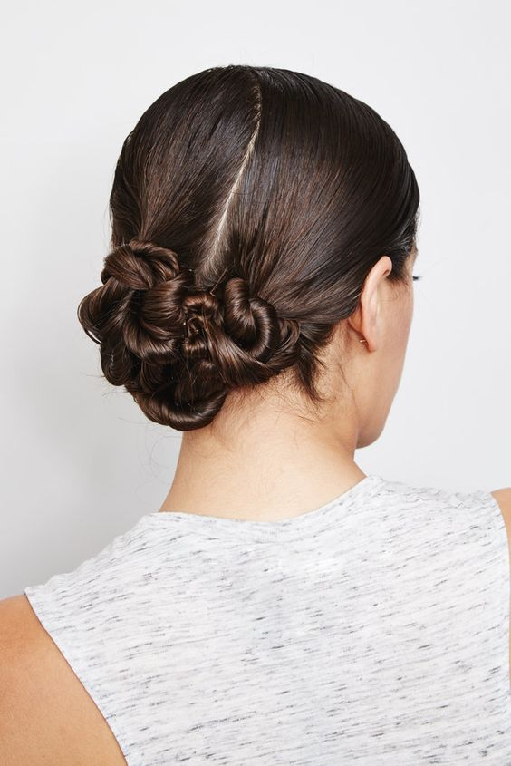 This DIY Twisted Chignon is the perfect hairstyle to go straight from the gym to work