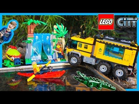 Lego City Excavator Transport Truck Time Lapse Build And Pretend Play Youtube Lego City Monster Trucks Legos