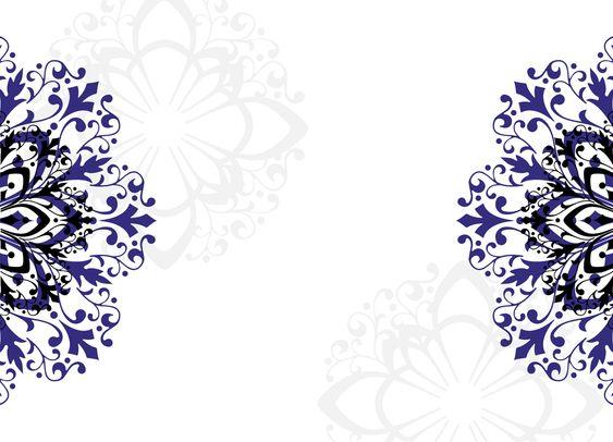 Wedding Shower Blank Templates Royal Blue