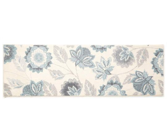 Living Colors Ellie Blue Floral Accent Rugs Accent Rugs Floral Rug Rugs