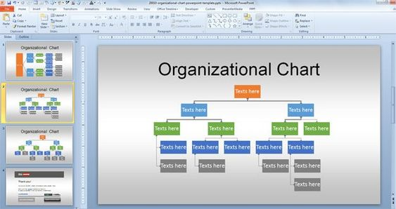 Free Org Chart PowerPoint Template Projects to Try Pinterest - horizontal organization chart template