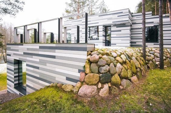 Environmentally friendly house – Villa with mosaic facade