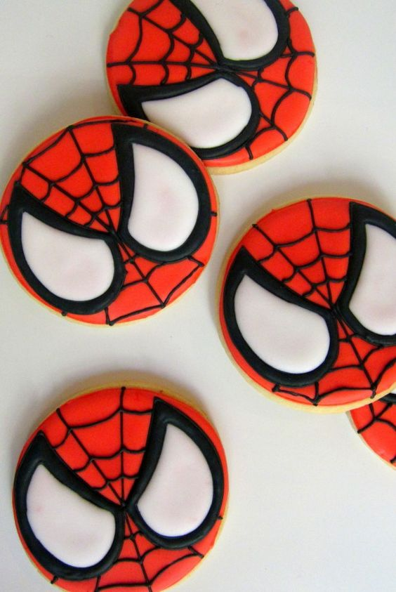 spiderman cookies - how cute!