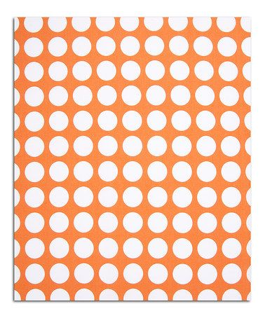 Loving this Orange Dot 12' Fabric on #zulily! #zulilyfinds BENCH CUSION