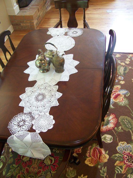 Vintage Doily Table Runner by RetroRevivalBiz on Etsy, $60.00