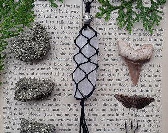 Quartz Pentacle Charm Necklaces by Aurvgon on Etsy