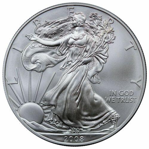 2008 1 Troy Oz 999 Fine Silver American Eagle 1 Coin Ebay In 2020 American Silver Eagle Us Silver Coins Silver Bullion Coins