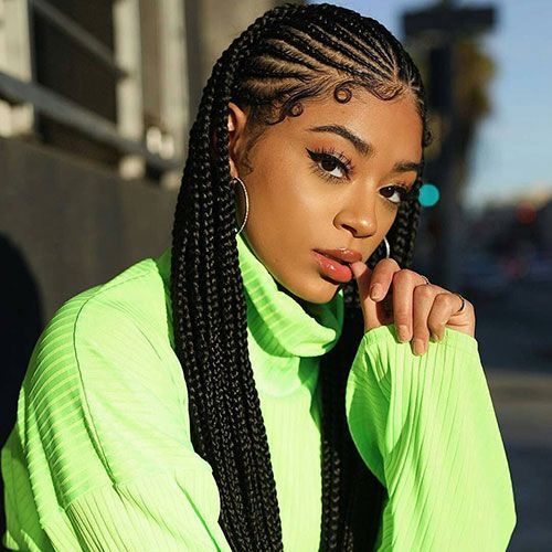50 Cool Cornrow Braid Hairstyles To Get In 2020 In 2020 Braided Hairstyles Braids For Short Hair Braids For Black Hair