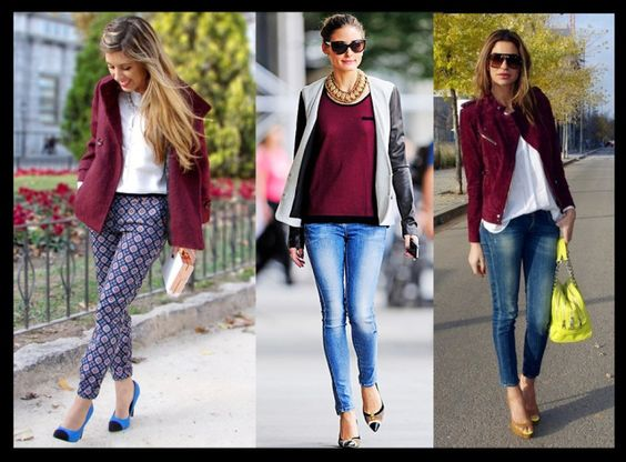 07_Looks Burgundy_A cor tendencia do Inverno 2013_Burgundy com jeans