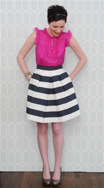 I love bold stripes.