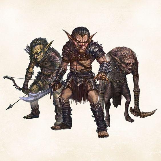 Forest Goblin, Hill Goblin, Cave Goblin