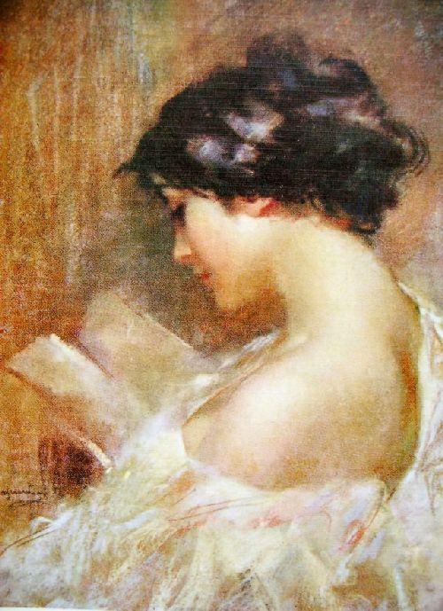 Leitora, 1913, Giuseppe Mascarini (Itália, 1877-1954), óleo sobre tela:
