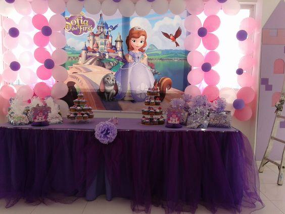 Decoracion fiesta infantil princesita sofia pinterest - Sofia calleja decoracion ...