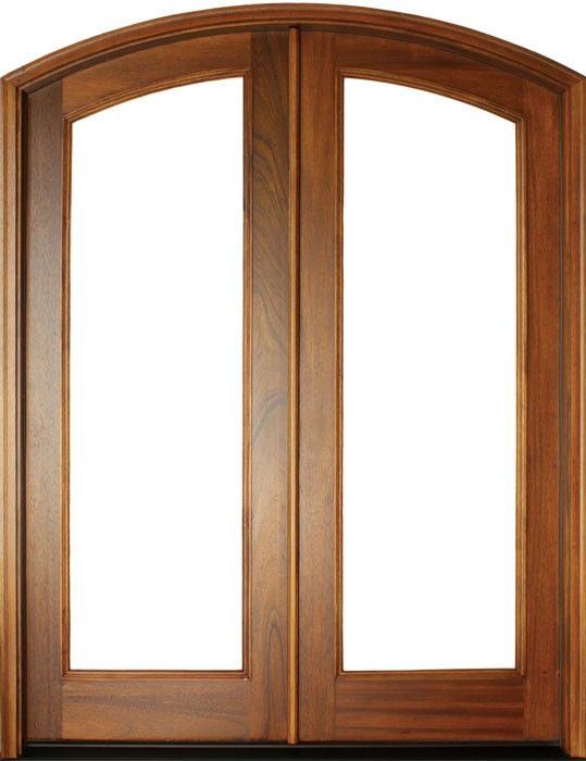 Mahogany Full View 1 Lite Impact Double Door Arch Top 1 3 4 Thick Double Doors Exterior Doors French Doors Patio