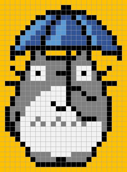 grille pour plaid pixel 007b
