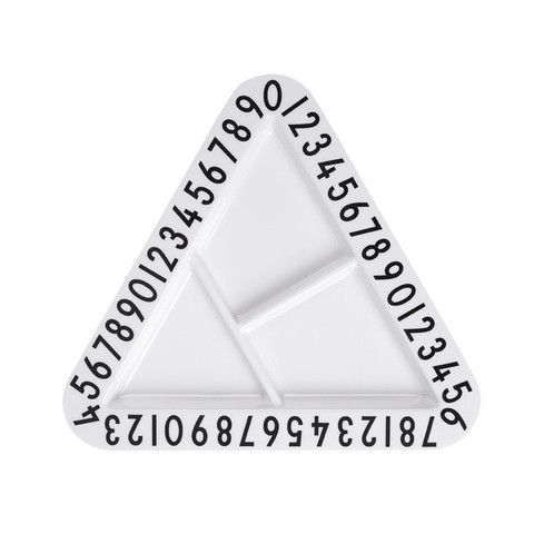 Design Letters Triangle Snack Plate