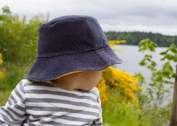 navy corduroy bucket hat by skirt_as_top, via Flickr
