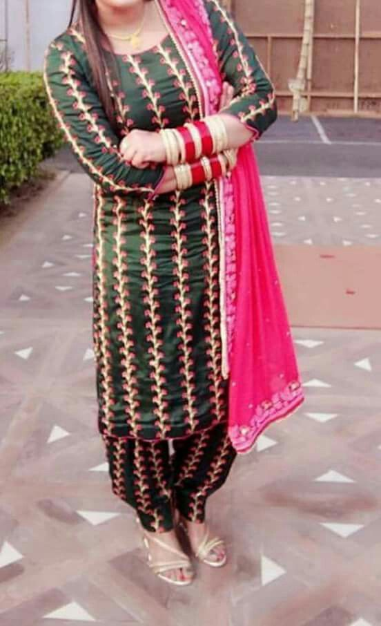Pin By N Kaur On Punjabi Suit Embroidery Suits Design Embroidery Suits Punjabi Punjabi Outfits