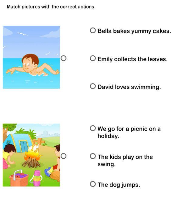 math worksheet : action verbs worksheets esl efl worksheets kindergarten  : Kindergarten Verb Worksheets