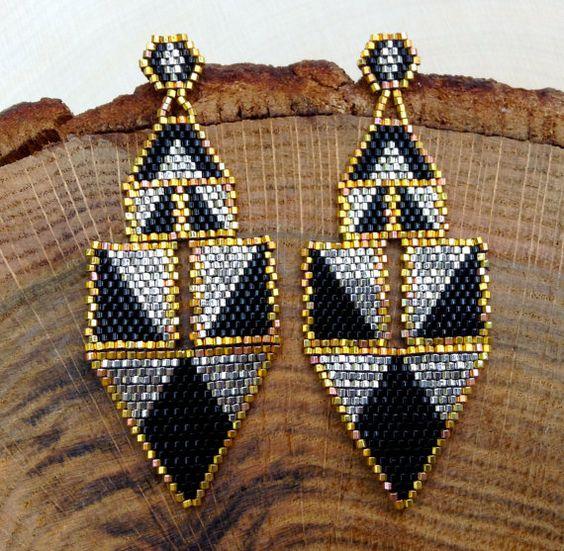 Modern Chandelier Earrings by wildmintjewelry on Etsy, $130.00