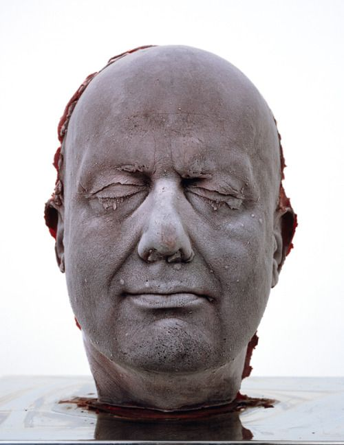 "Marc Quinn,,  Self 2006, one of his cold ""blood head"" self-portraits."