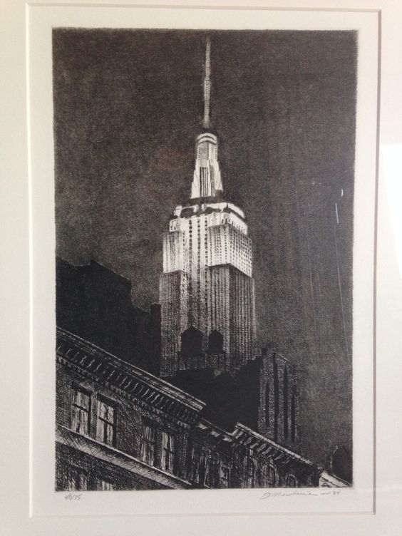 Mershimer, Frederick - Empire State Mezzotint 48/75 Signed Limited Edition by TudorGalleriesDenver on Etsy