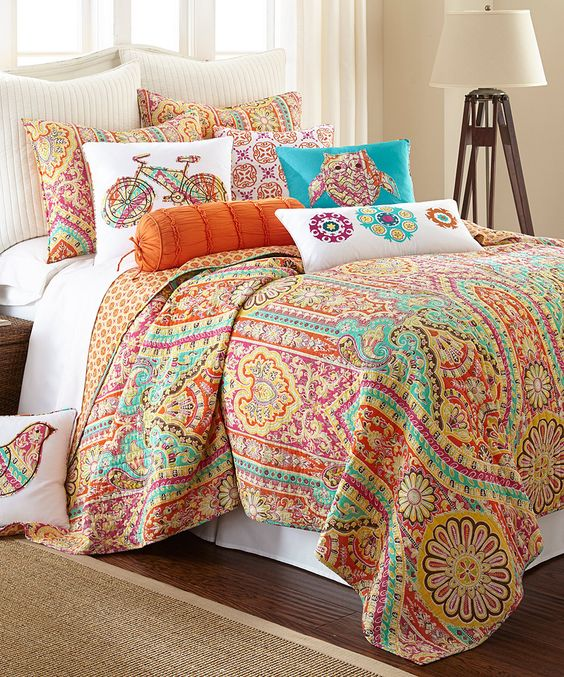 Colorful bedding: