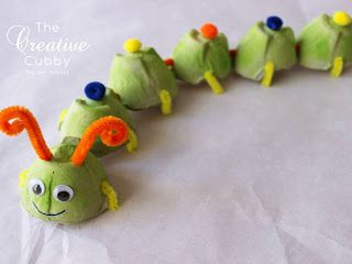 How to make Egg Carton Caterpillars and Other Critters  #kids #kidscrafts #campcrafts