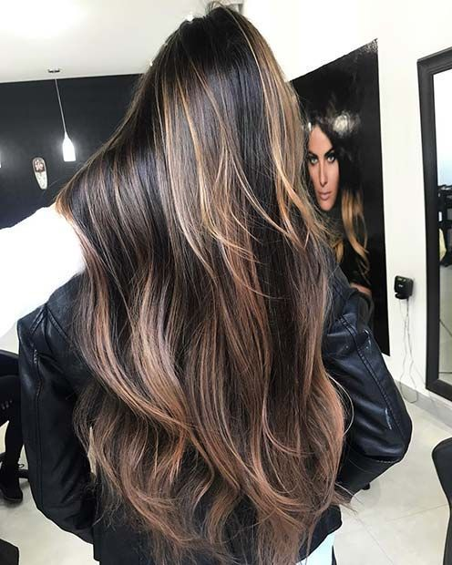 23 Different Ways To Rock Dark Brown Hair With Highlights Page 2 Of 2 Stayglam Hair Highlights Brown Blonde Hair Coffee Brown Hair
