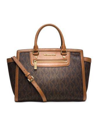 MICHAEL Michael Kors Large Selma Top-Zip Satchel. Diese und weitere Taschen auf www.designertaschen-shops.de entdecken