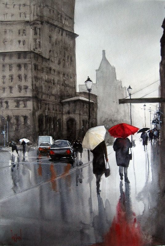 """Rainy Day in Gastown"" by S KHAN:"