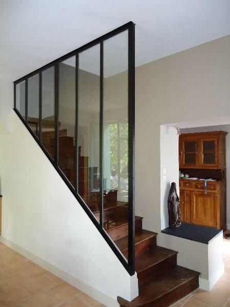 verriere escalier maison verriere atelier deco escalier verriere bois ~ Verriere Atelier Bois
